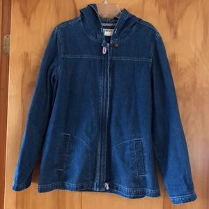 Orvis Vintage Thrifted Jean Jacket with Hood